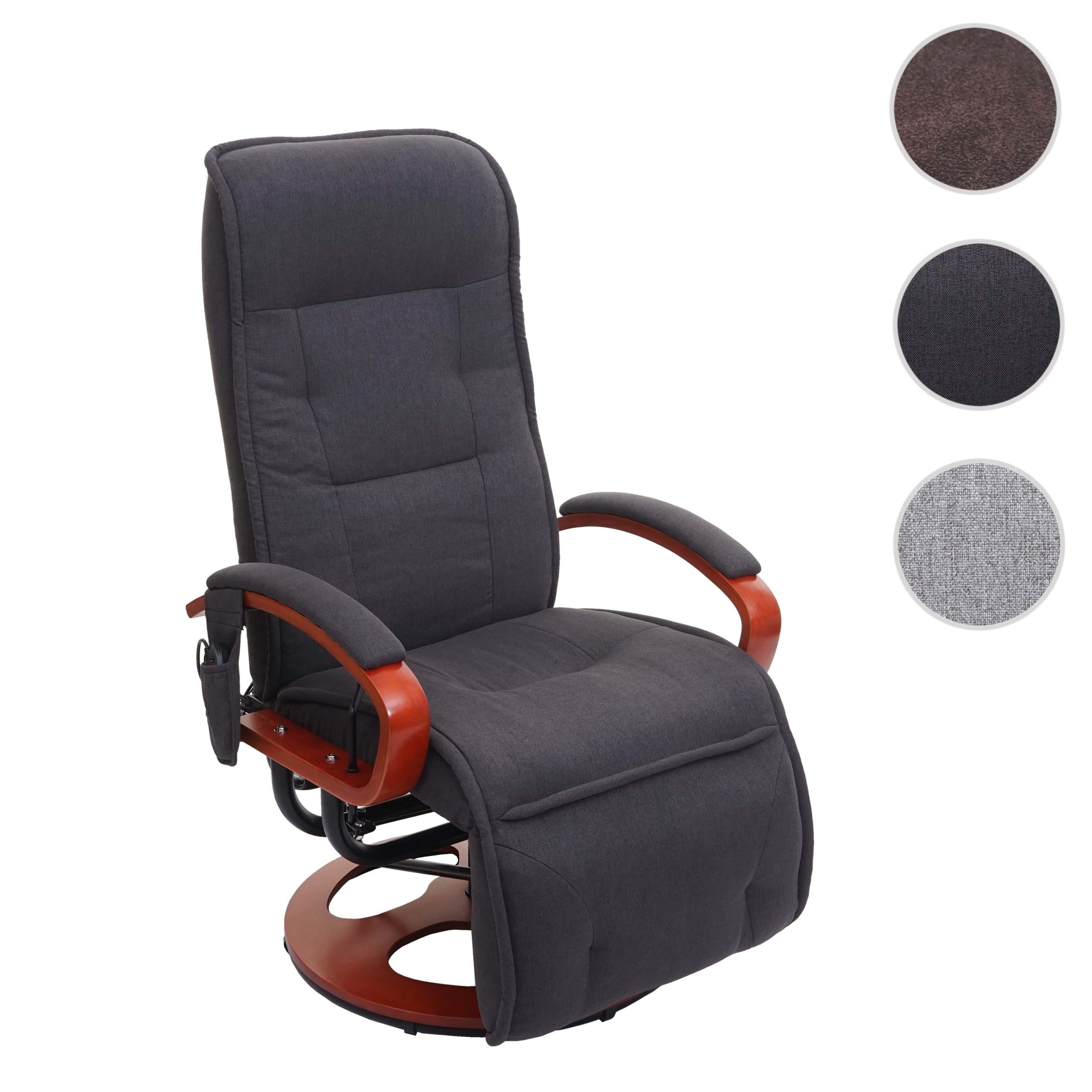 Mendler Relaxliege ARLES II, Relaxsessel Massagesessel, MIT Massage Stoff/Textil ~ Variantenangebot 74170