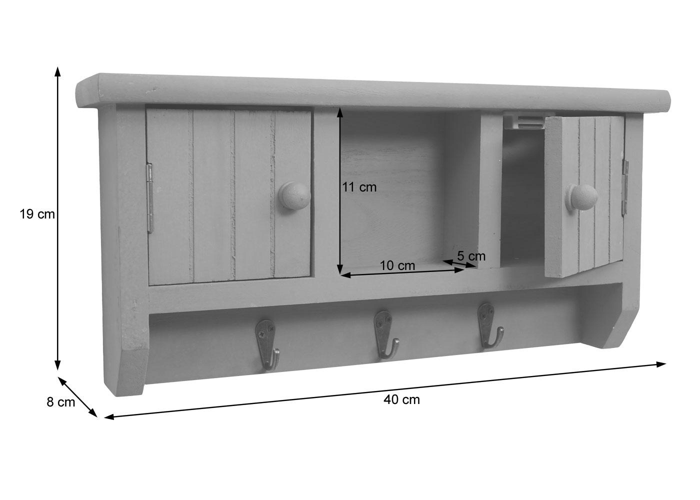 Schlüsselbrett HWC-A48 Bemaßungsbild