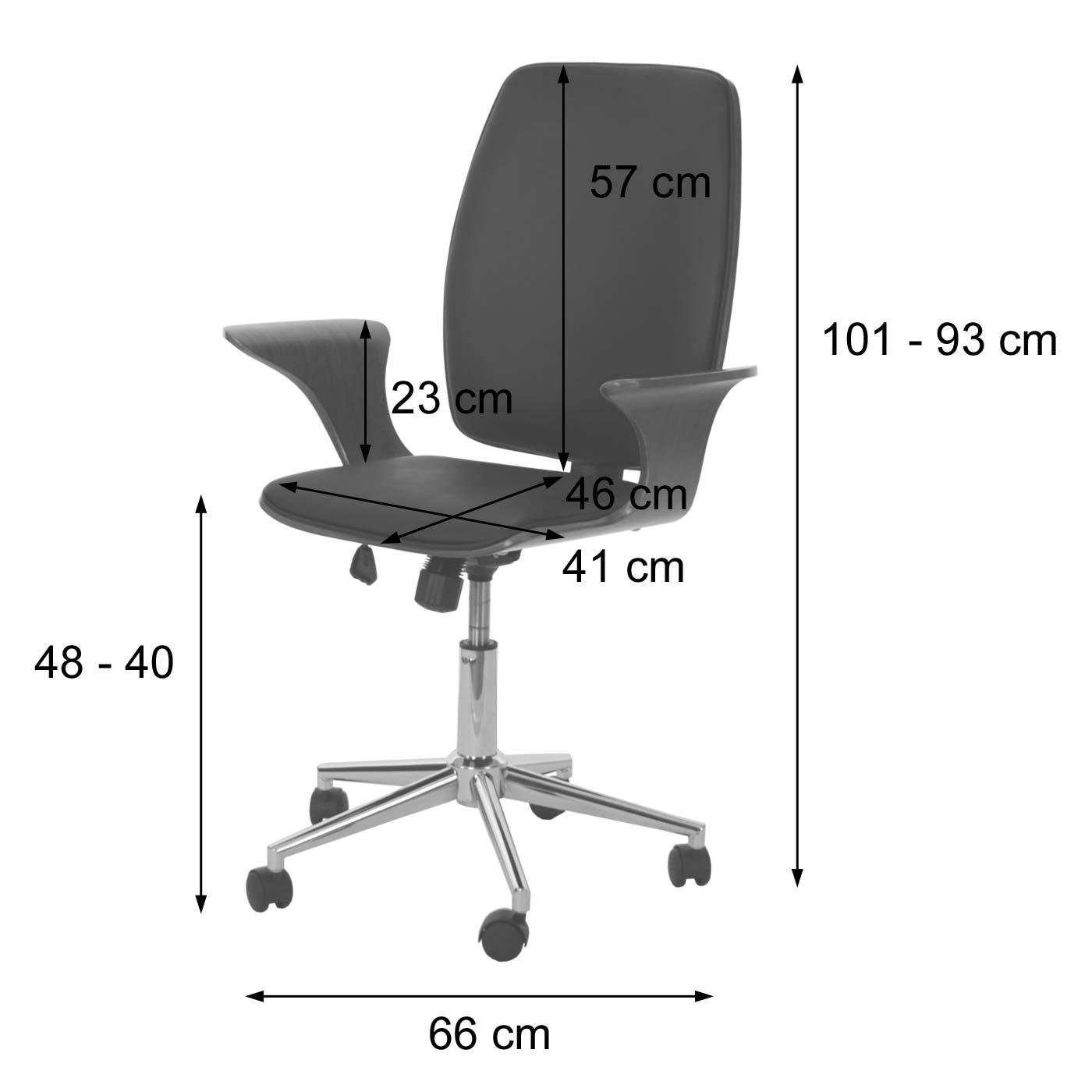 Bürostuhl HWC-C54 Bemaßung