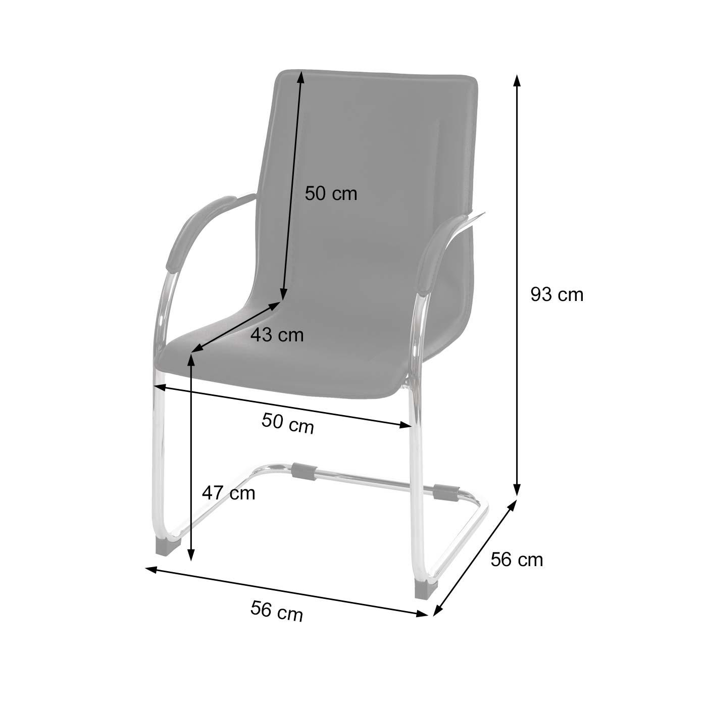 Konferenzstuhl T600 Bemaßungsbild