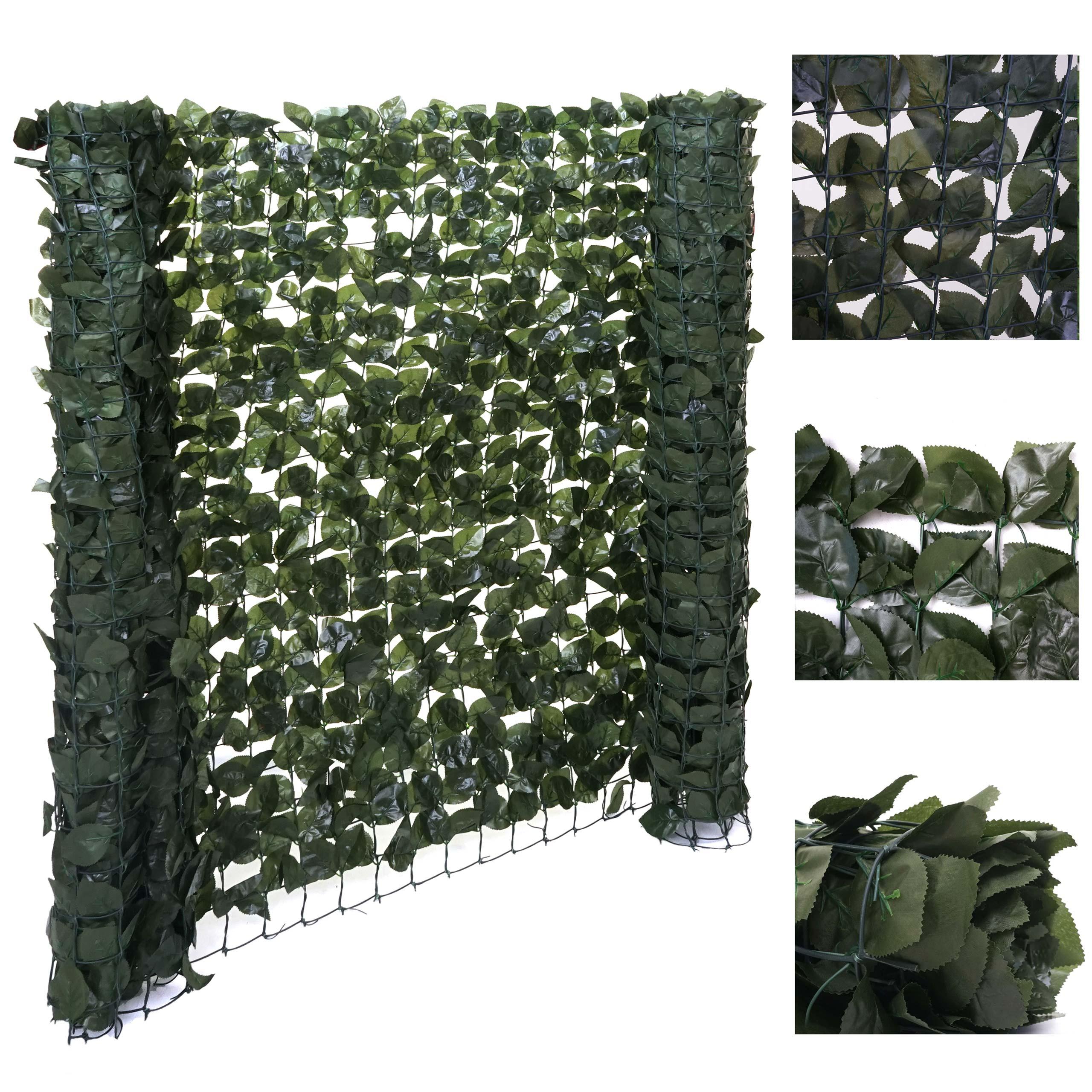 Verkleidung für Balkon Zaun Terrasse ~ 300x150cm Sichtschutz Buchenhecke