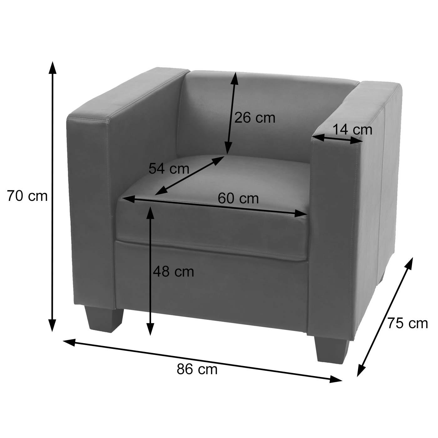 Sessel Loungesessel Lille Bemaßungsbild