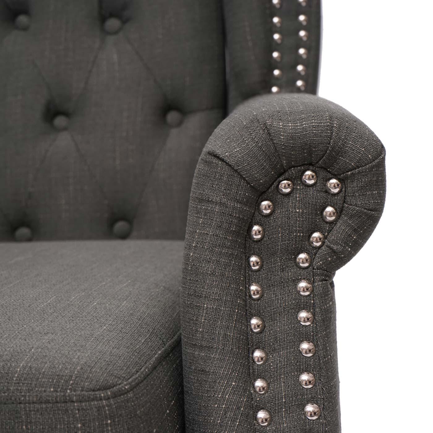 Chesterfield Sessel Detailbild Armlehne