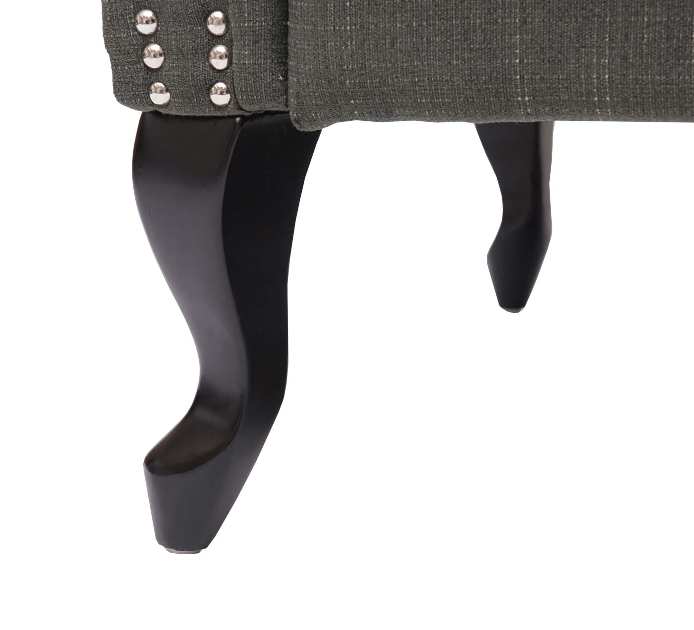 Chesterfield Sessel Detailbild Fuß