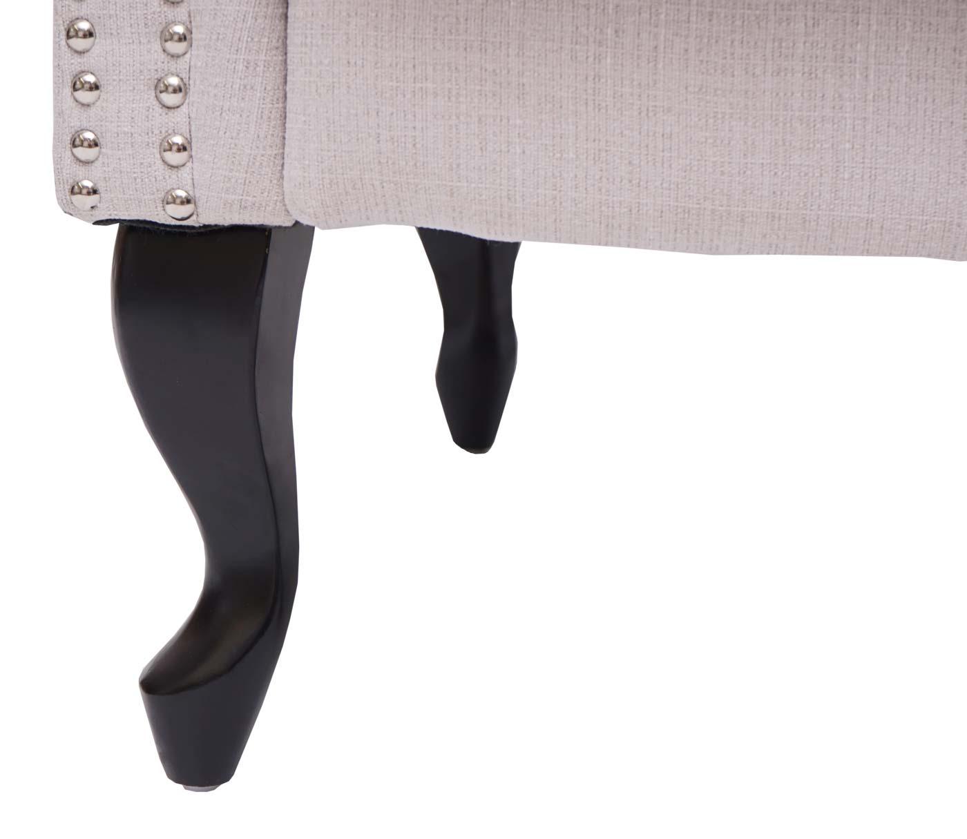 Chesterfield Sessel+Ottomane Detailbild Fuß