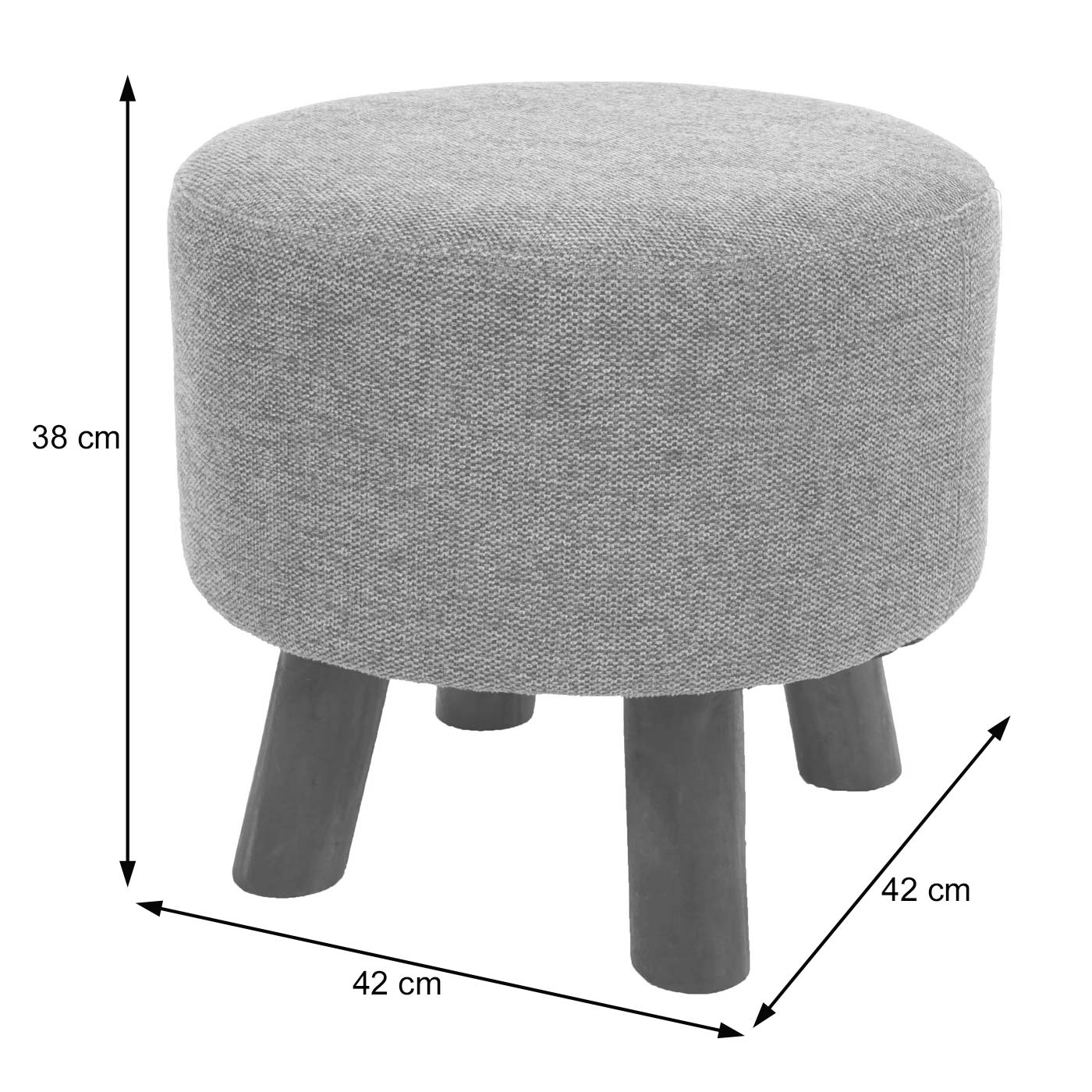 Sitzhocker HWC-C29 Bemaßungsbild