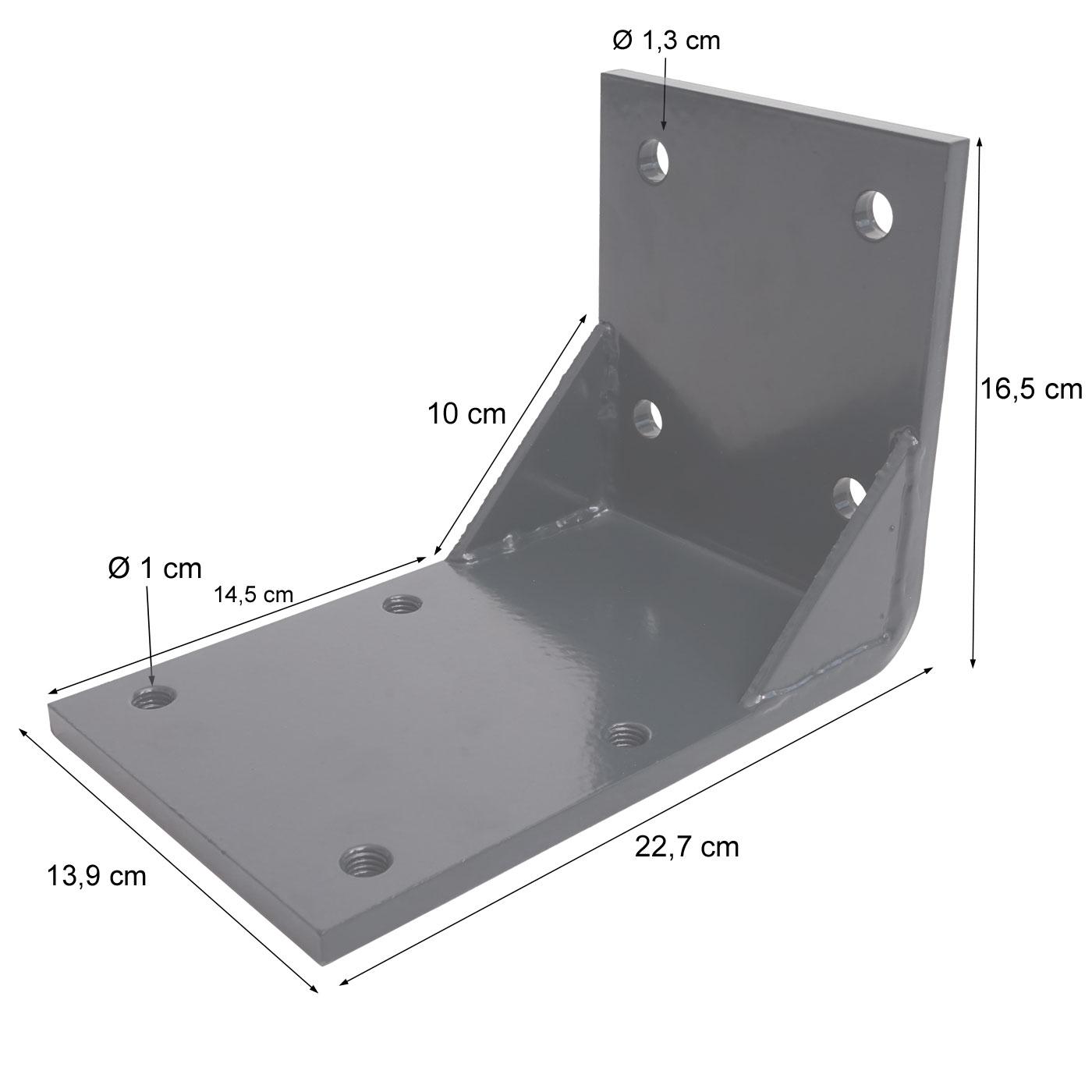 Deckenadapter für T122, T123 Bemaßungsbild