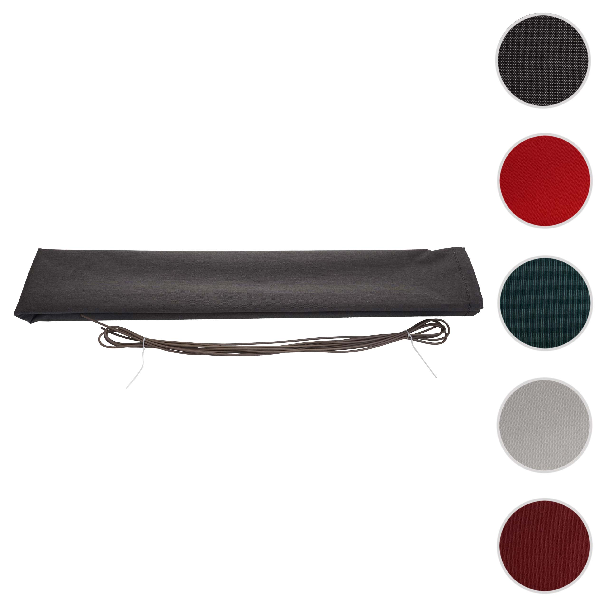 Mendler Bezug für Markise HWC-H27, Vollkassette Ersatzbezug Sonnenschutz 6x3m ~ Variantenangebot 76553