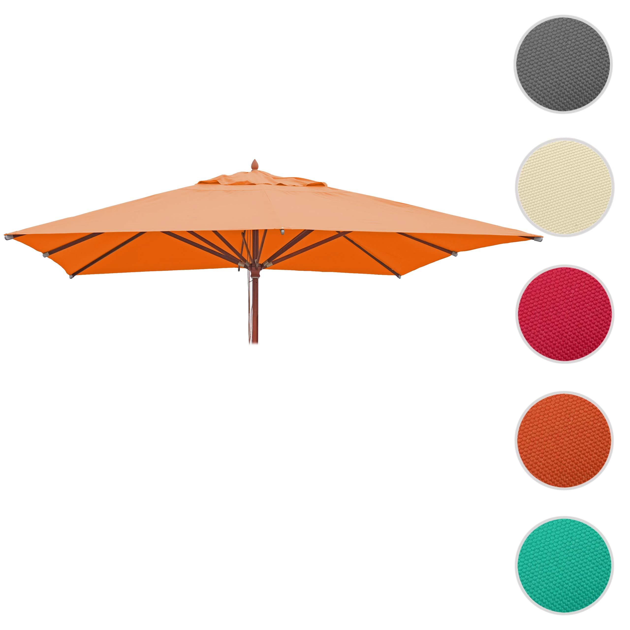 Mendler Bezug für Gastronomie Holz-Sonnenschirm HWC-C57, Sonnenschirmbezug Ersatzbezug, eckig 3x3m Polyester 76660