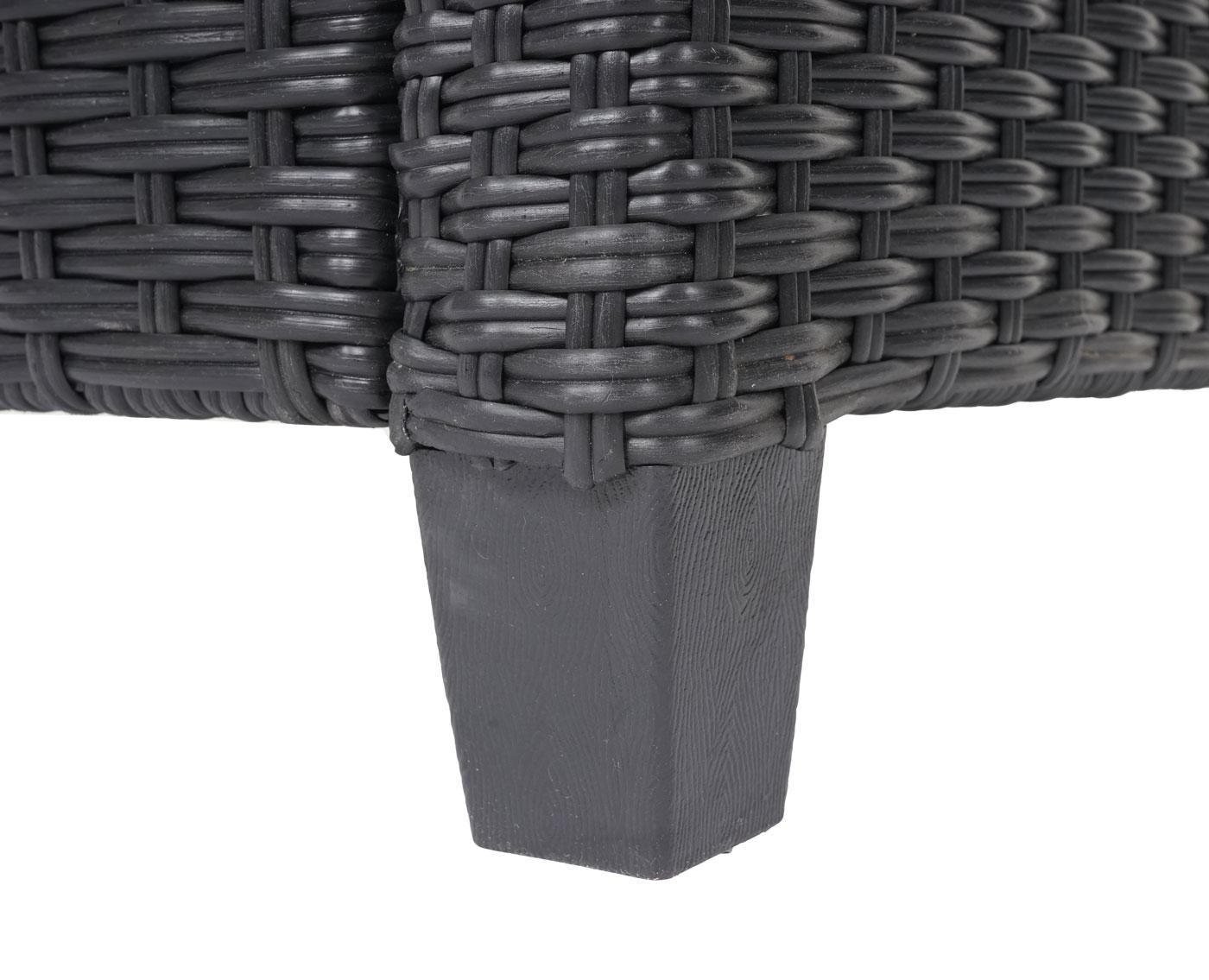 HWC-J35 Poly-Rattan Garnitur Detail Tischfuß