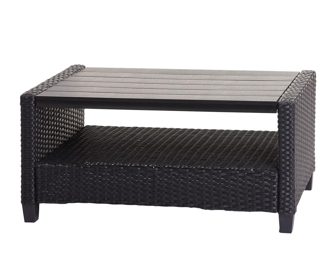 HWC-J35 Poly-Rattan Garnitur Tisch