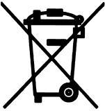 abgebildeten Symbol einer durchgestrichenen Mülltonne